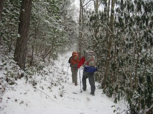 winter trekking